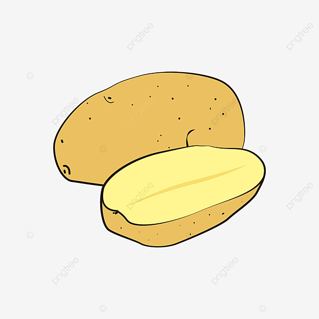 cartoon potato clipart