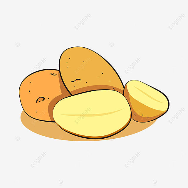 multiple potatoes clip art