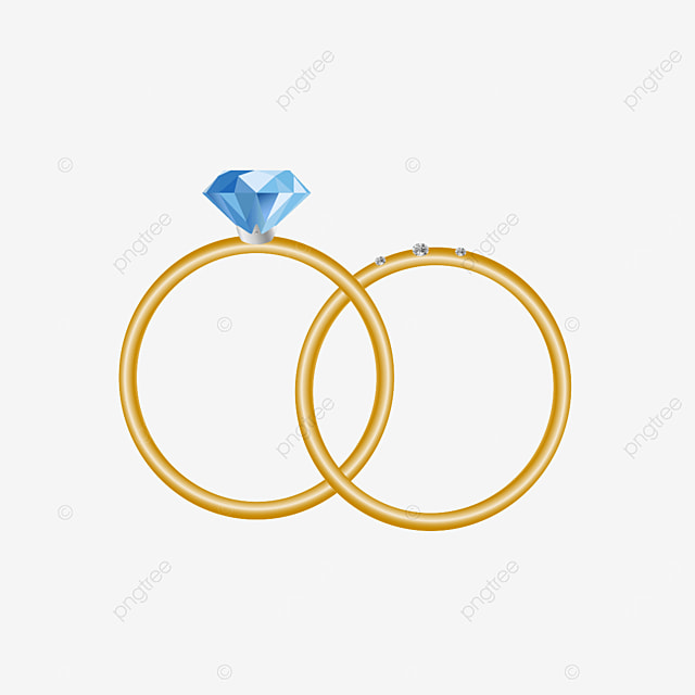 golden diamond ring pair ring