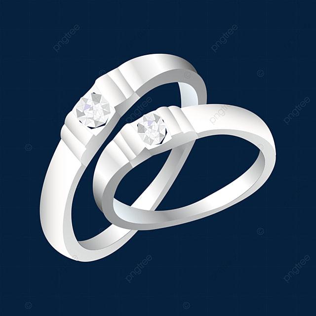 white silver ring clip art