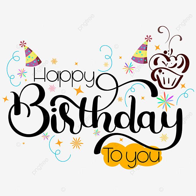 Gambar Selamat Ulang Tahun Kepada Anda Tulisan Tangan Dengan Kad Jemputan Kek Dan Bintang Gembira Selamat Hari Lahir Hari Jadi Png Dan Vektor Untuk Muat Turun Percuma