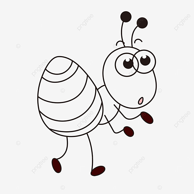 light handed ant clipart black and white