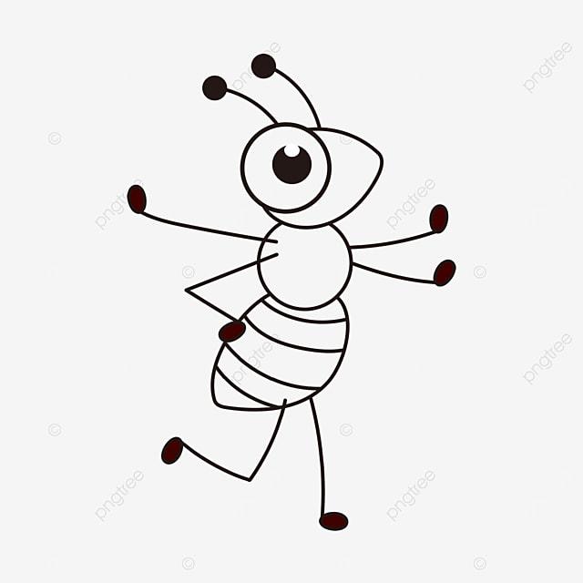 random ants clipart black and white