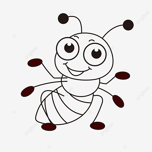 smart ant clipart black and white