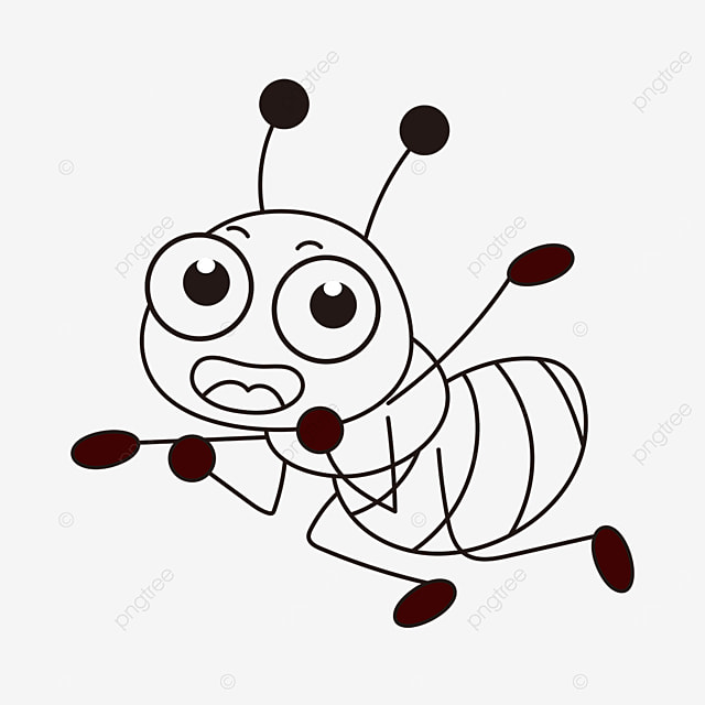 working ant clipart black and white
