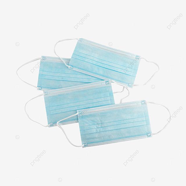 hygiene still life blue mask