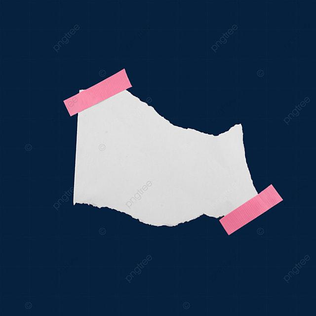 line torn letter paper blank paper