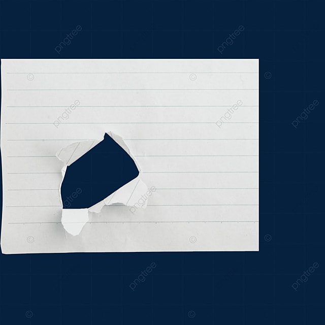office torn diary blank paper