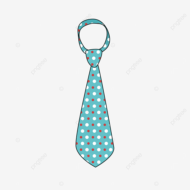 polka dot texture blue tie clipart