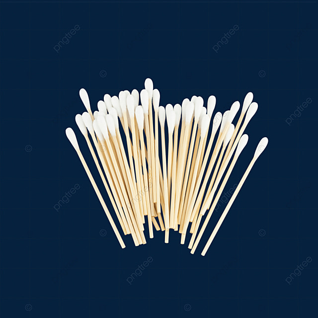 a white medical dust free cotton swab