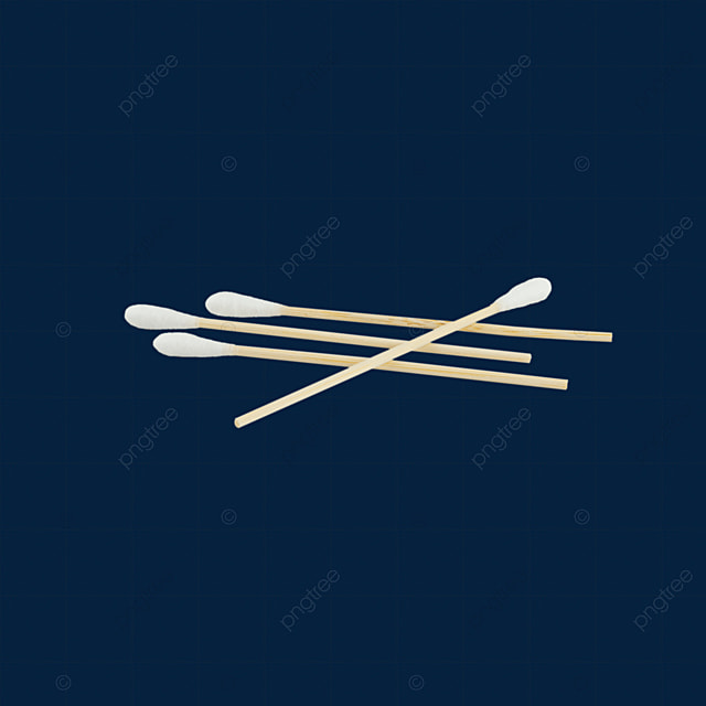 one cotton swab is placed on three cotton swabs