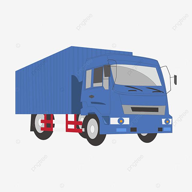 big blue truck clip art