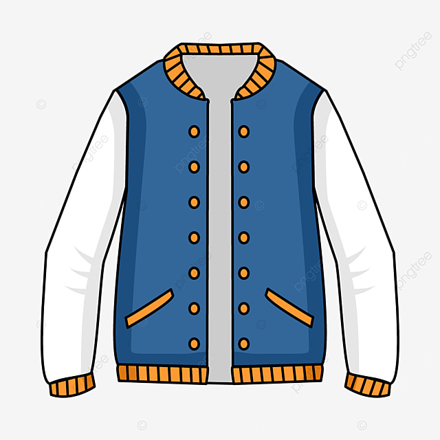 blue orange edge jacket clip art