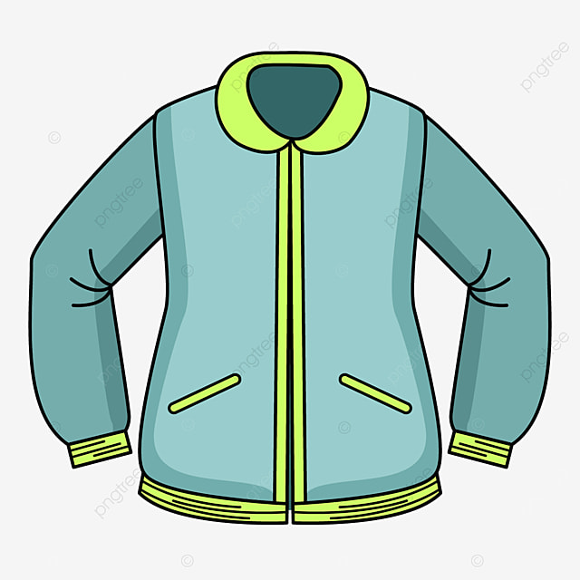 bright colored jacket clipart