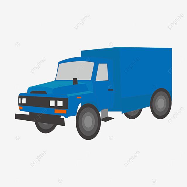 four wheel box truck clip art