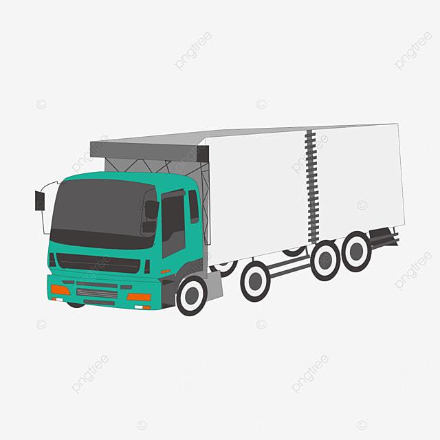 green truck clip art