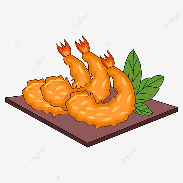 japanese tempura fried prawns