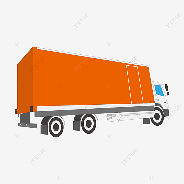 orange truck clip art