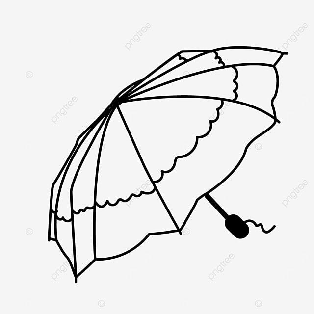 a geometric pattern pattern umbrella clipart black and white