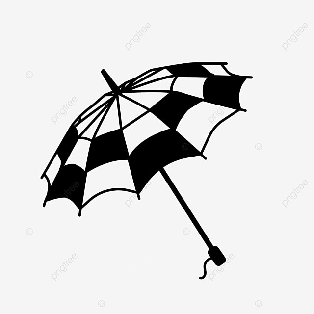black and white block pattern life tool umbrella clipart black and white