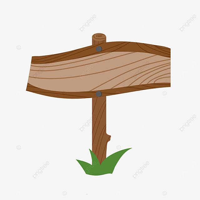 brown edge wooden signboard clip art