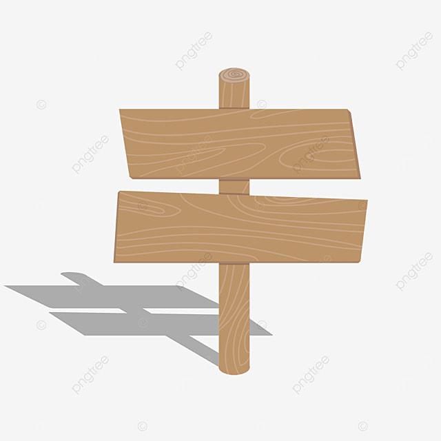 khaki wooden board clip art