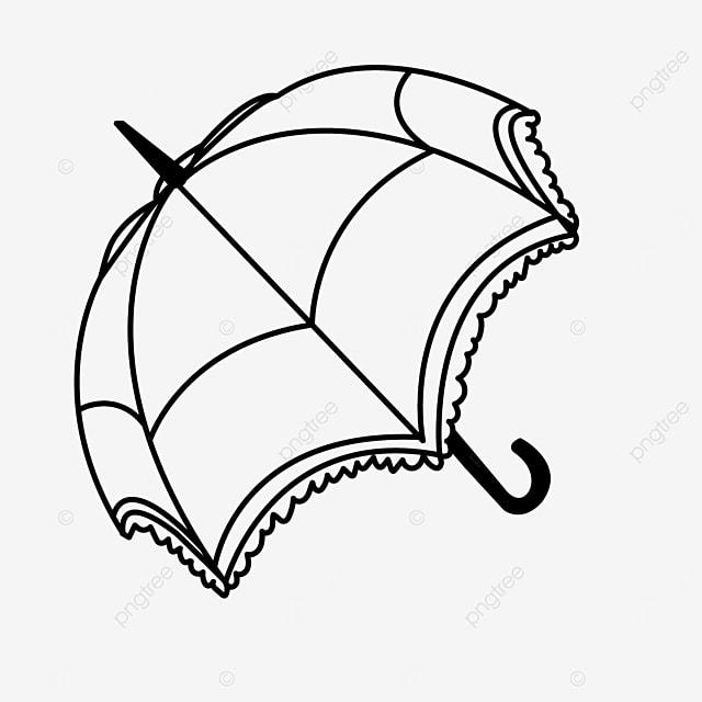 lace umbrella clipart black and white