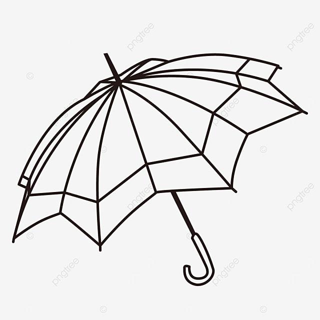 life tool rain gear geometric figure umbrella clipart black and white