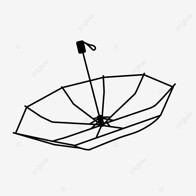 life tool sunshade umbrella clipart black and white