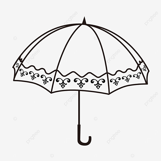 pattern pattern linear draft umbrella clipart black and white