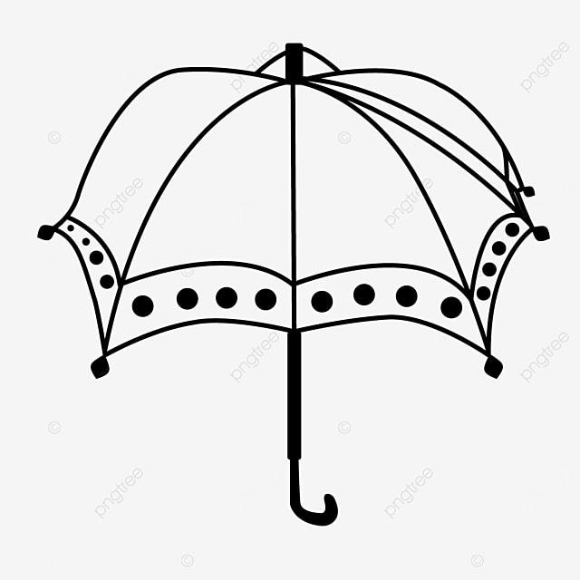 polka dot line pattern pattern umbrella clipart black and white