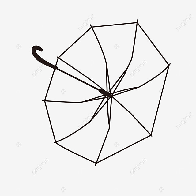 sunshade tool lineart example illustration umbrella clipart black and white