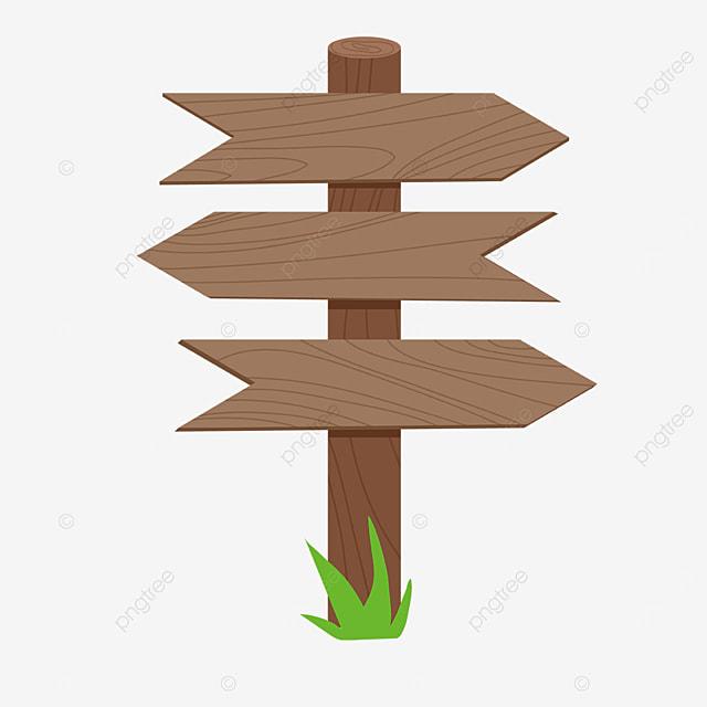 wooden direction signboard clip art
