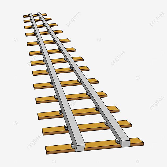 wooden pile railway clip art