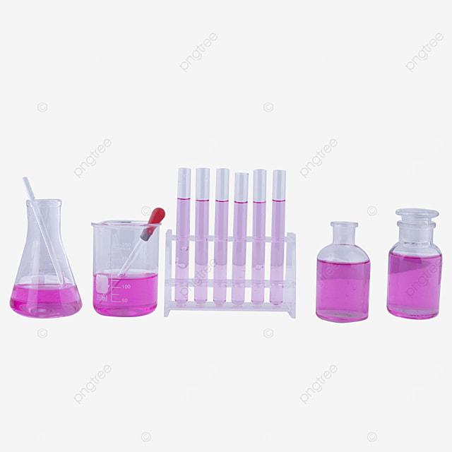 a set of purple solution experiment equipment combination