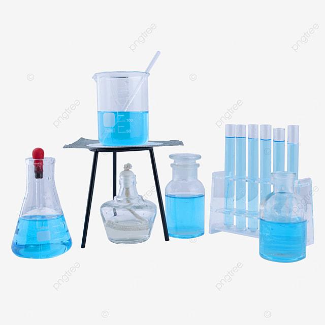 alcohol lamp blue liquid beaker instrument combination
