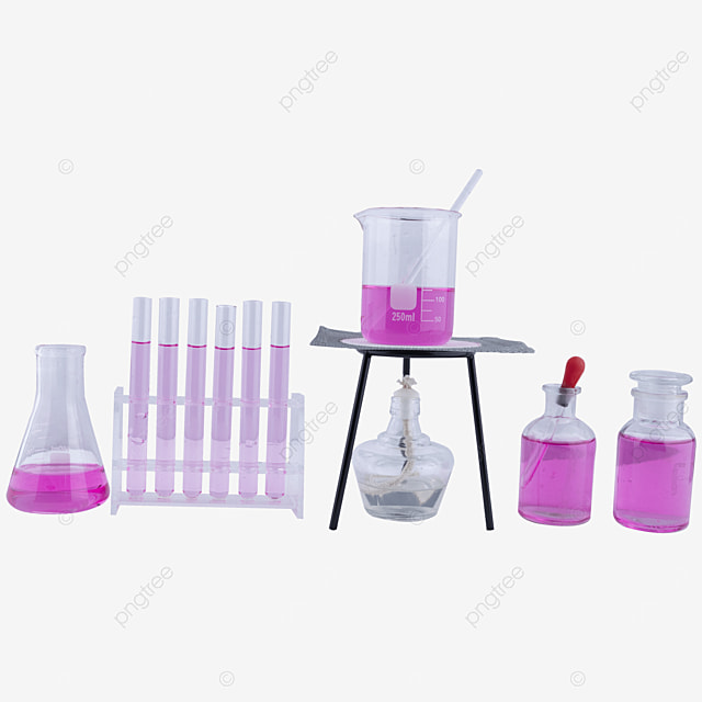 alcohol lamp purple liquid beaker instrument combination
