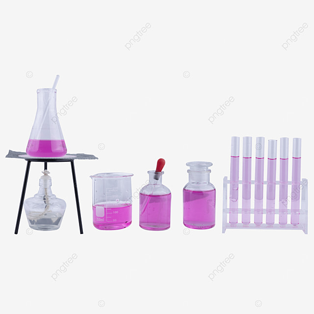 alcohol lamp purple liquid conical flask container combination