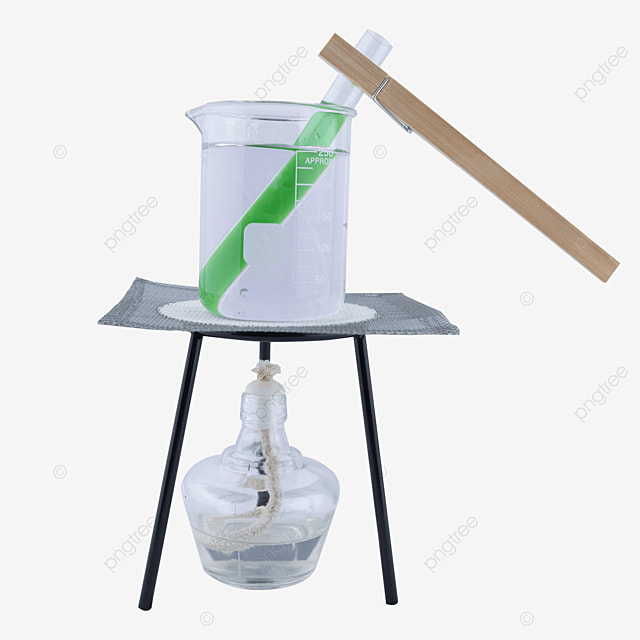 experiment with test tube with green potion
