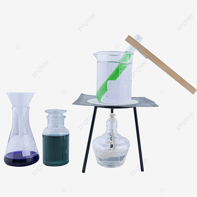 funnel conical flask and test tube test tube clamp combination