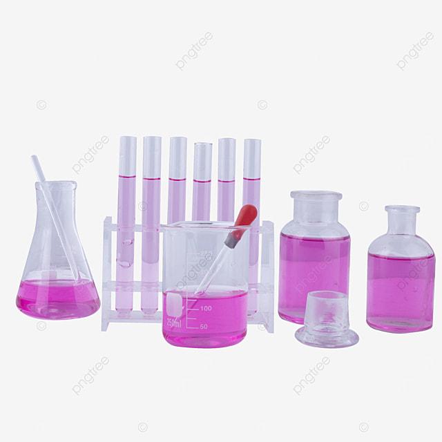 purple liquid experimental glass bottle combination