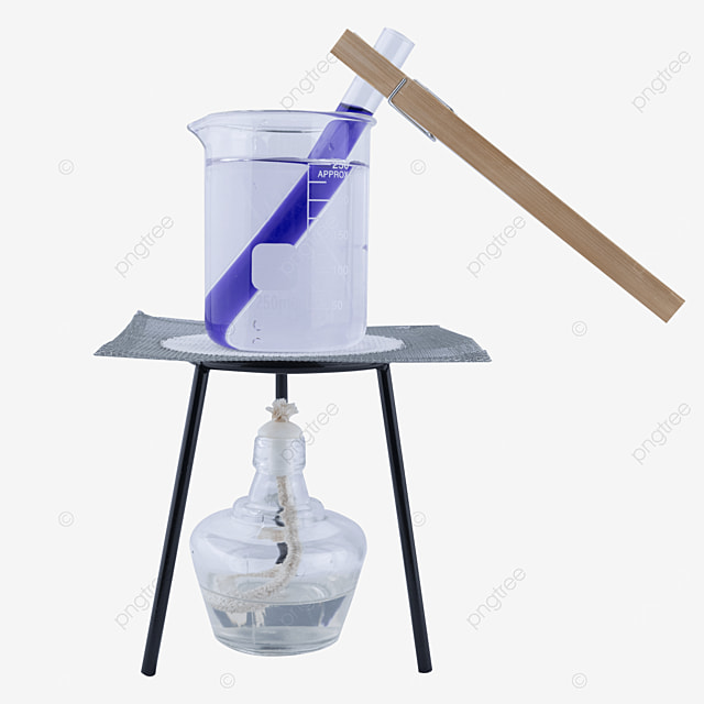test tube chemistry experiment of purple potion