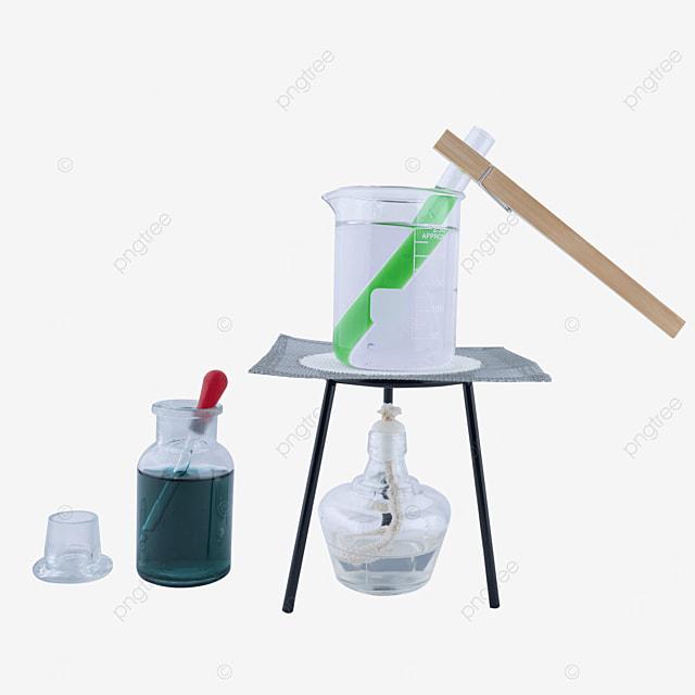 test tube clamp green liquid test tube alcohol lamp combination