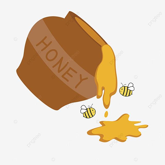 cartoon pouring honey clipart turned over honey jar