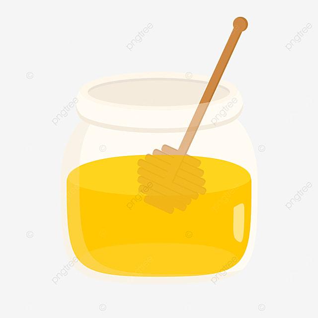 cartoon vector glass honey clipart