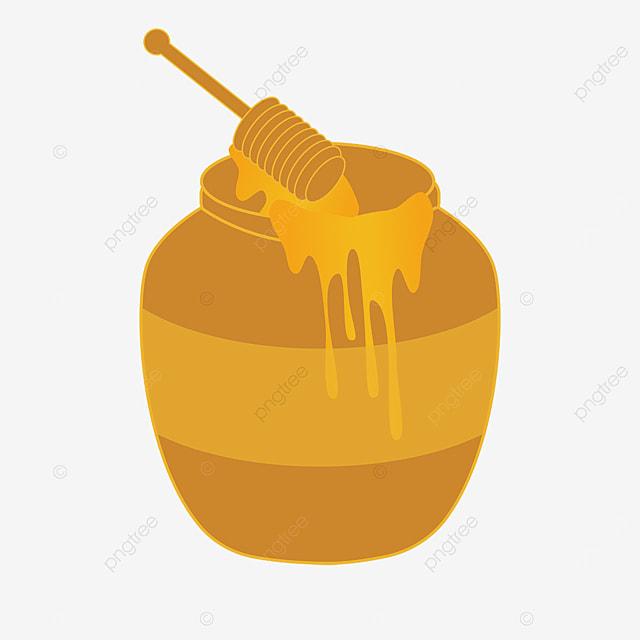 honey clipart cartoon clay pot of honey