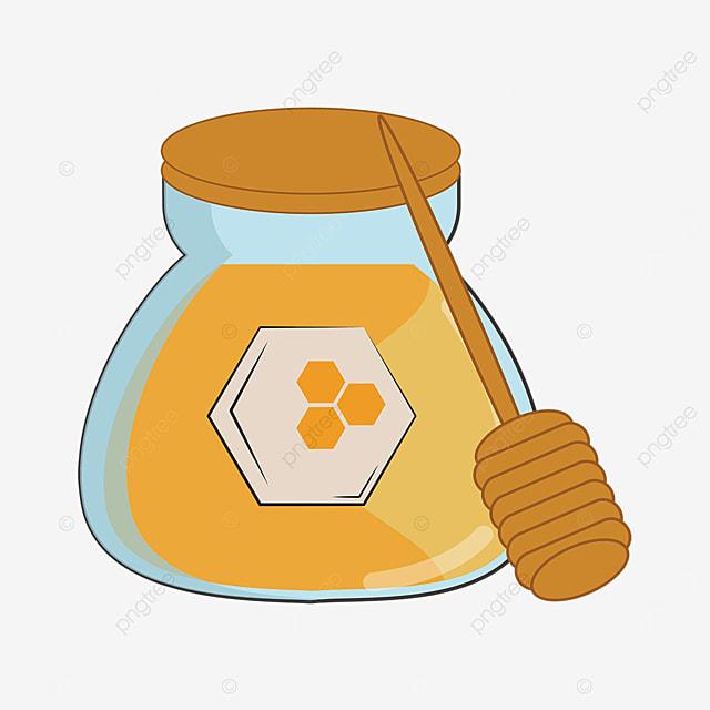 honey clipart cartoon glass tube honey