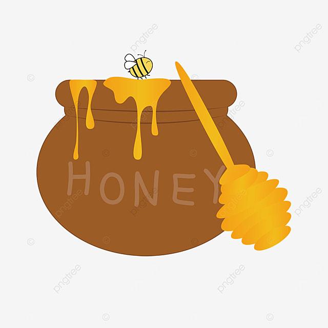honey clipart cartoon honey clay pot