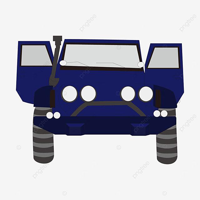 blue jeep clip art