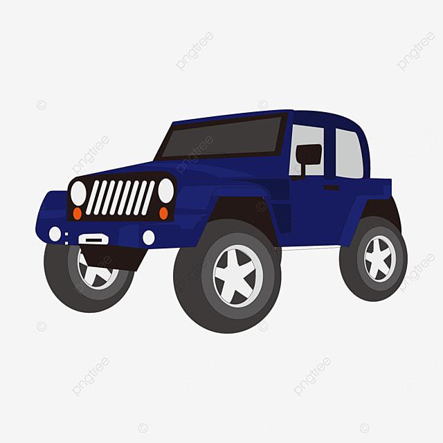 blue jeep clipart